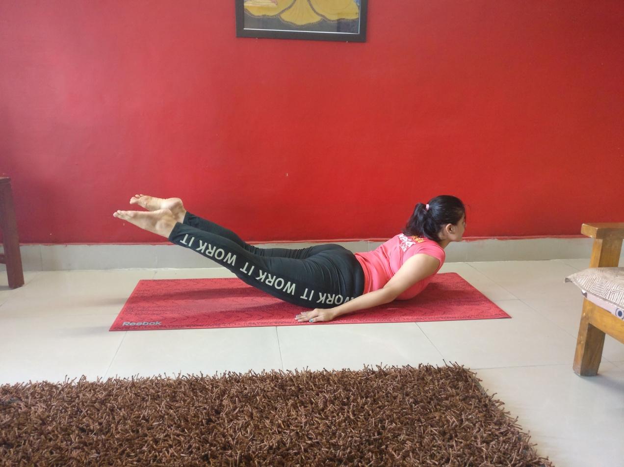 How To Do Salabhasana ( Locust Yoga Pose ) - Indian Youth