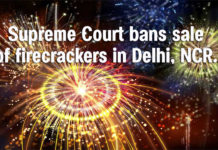 Supreme Court bans sale of firecrackers in Delhi, NCR.